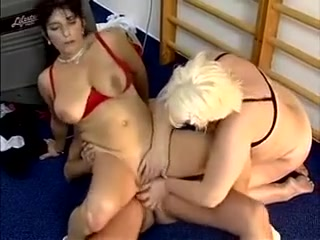 Big-breasted Mature Woman Moans While Getting Banged In A Threesome