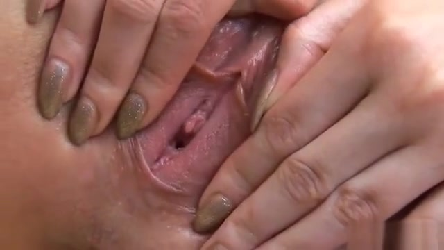 Fervid Nympho Is Gaping Pink Cunt In Close Up And Having Org