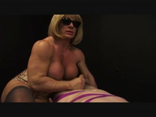 Muscle bitch black widow! busty candy samples perky tits
