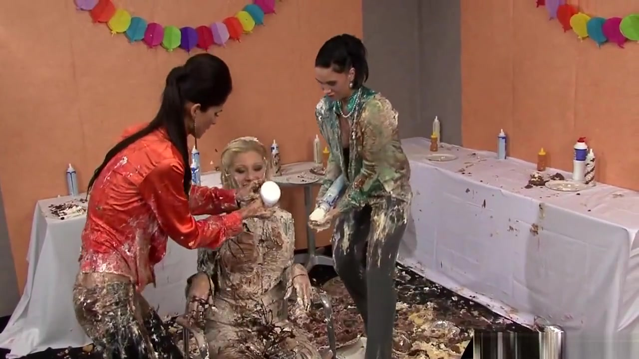 Birthday Party Turns Wet And Messy With Some Hot Food Play Mexican american teen nude
