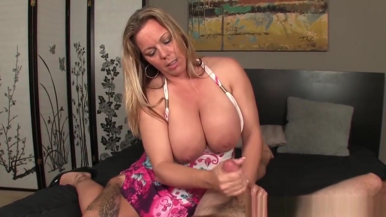 Chubby Milf Wanking Hard Cock Passionately strap-on wife