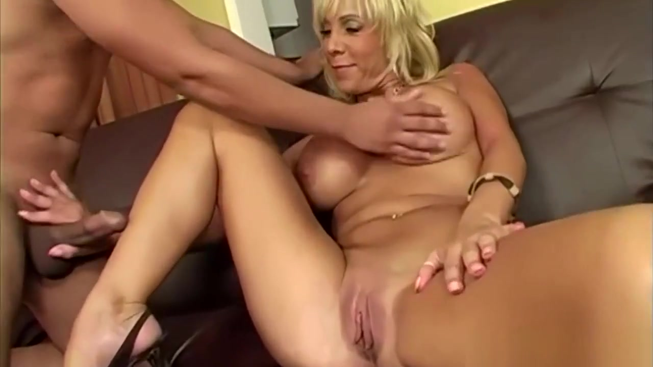 Busty Blonde Milf With Younger Guy