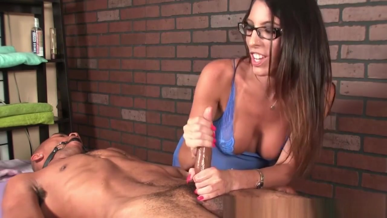 Spex Milf Masseuse Dominating Over Her Client Hairy pussy in a thong