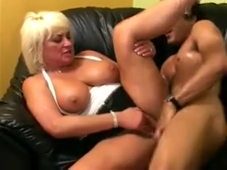 Busty Blonde Granny Sucks Cock And Gets Her Pussy Plowed By A Ripped Young Stud Most humilating female sex position