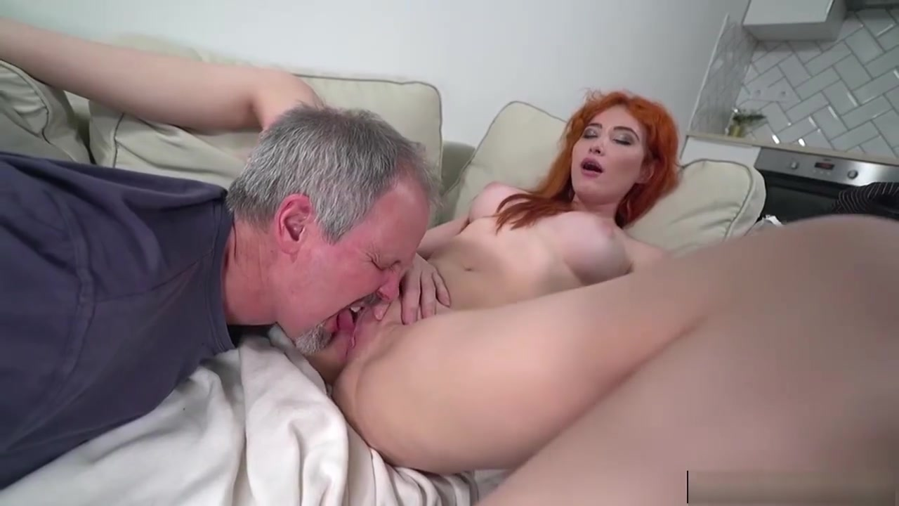 Russian Redhead Gisha Forza Gives Bj To N Fucked By Old Dude Mature pussy and dangling boobs