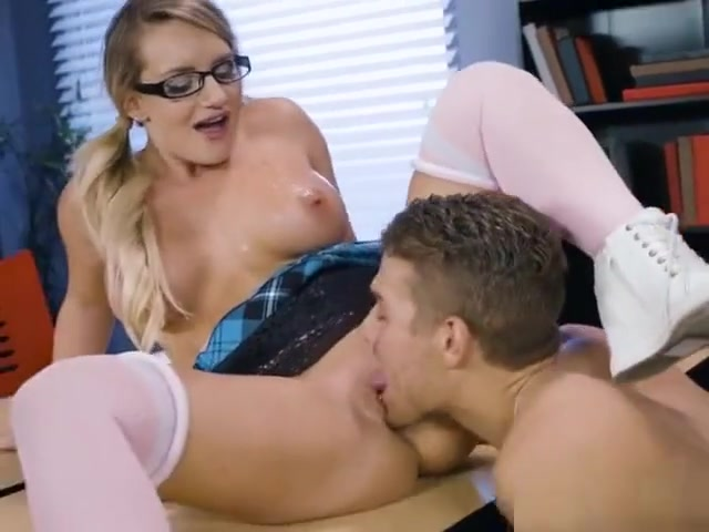 Chesty Teacher Cali Carter Enjoys Hung Jock Sexy stockings and suspenders