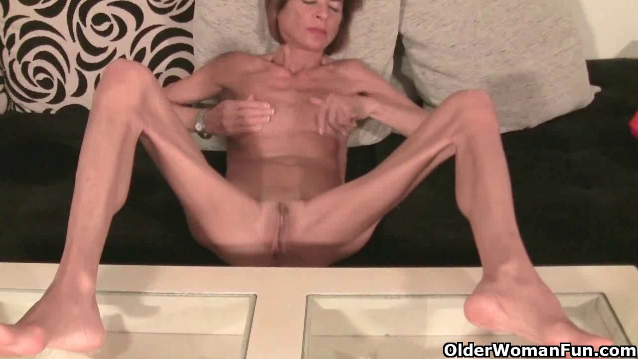 Very slim granny undresses off and masturbates (compilation)