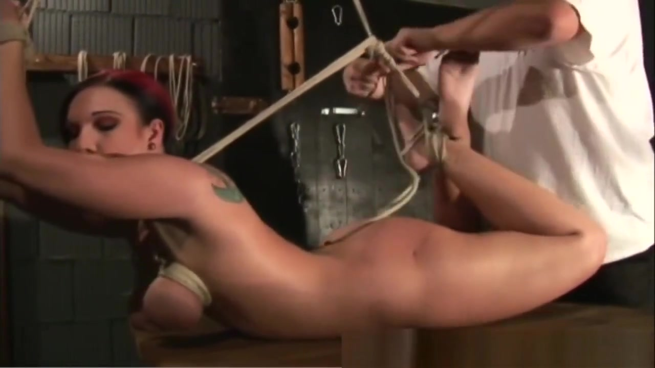 Busty Chick Gets Boobs Tied And Abused By Toy Soft bondage photos