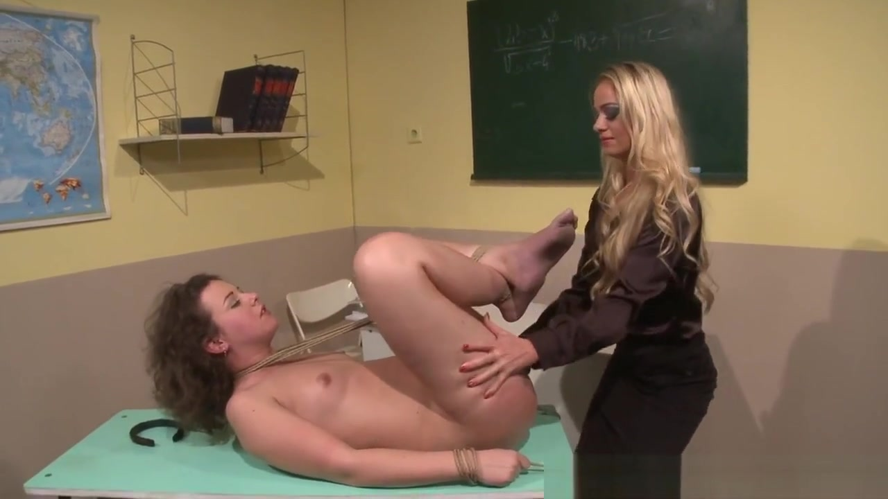 Lesbian Teacher Dominates Over Tiedup Sub Sexy girls tight booty shorts