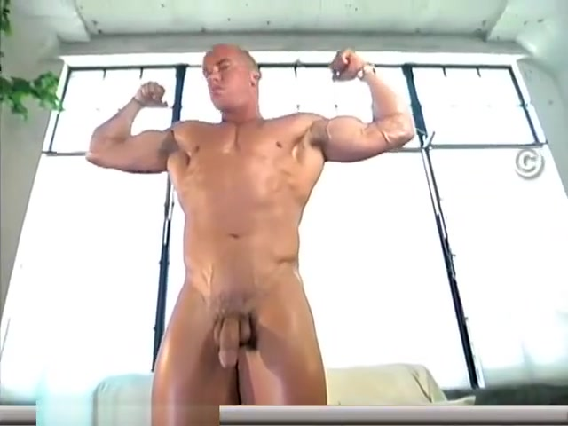 Muscle Worship Vin Marco Blonde table lick