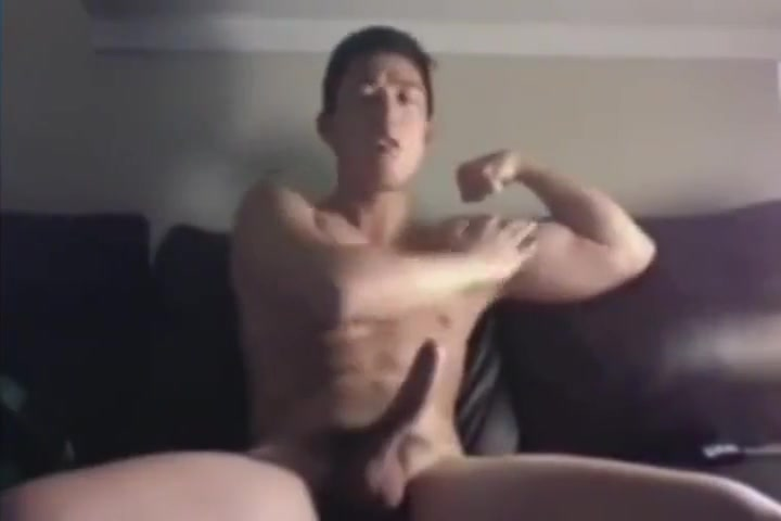 Hot Asian Guy with Big Dick Jerks Off The most sexy blondes vagina rubbing