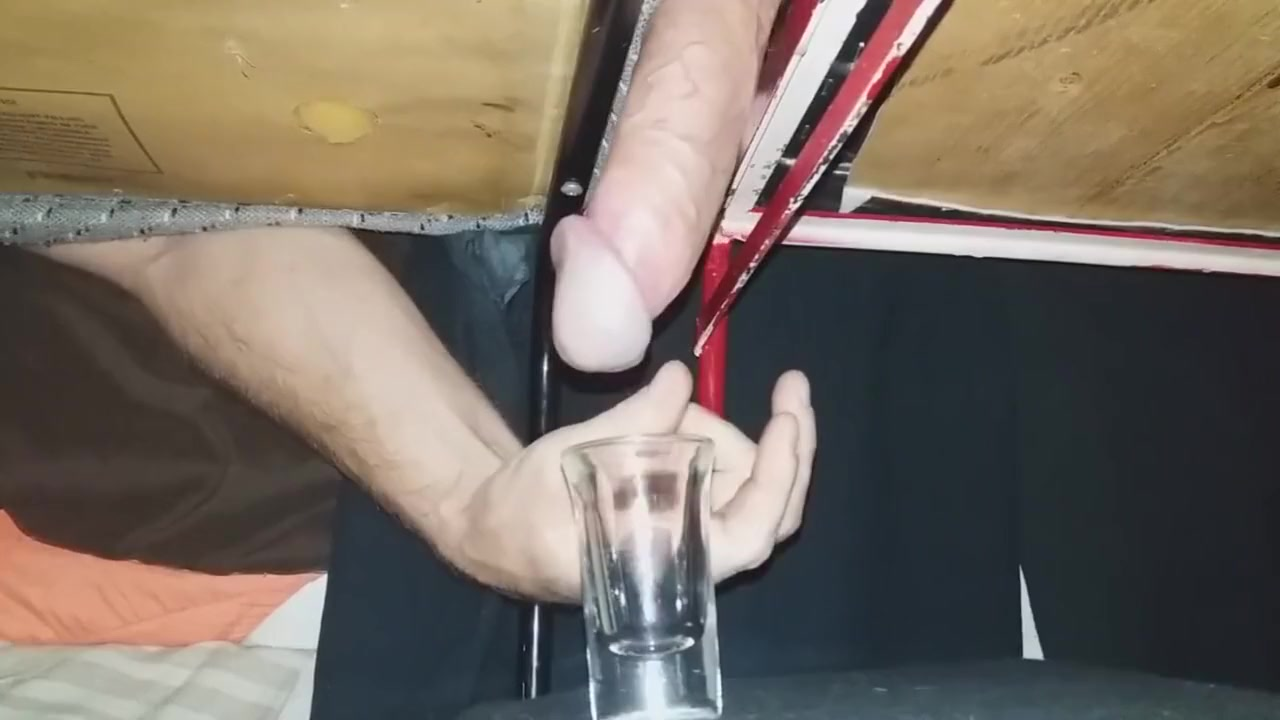 Trying To Fill The Shotglass With Cum On The Milking Table. Big Thick Load Voyeur movie clip free