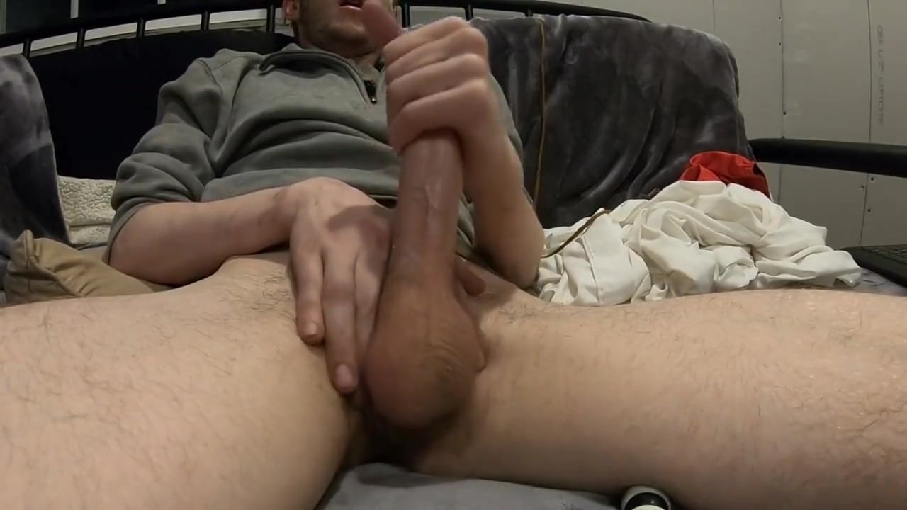 Gay Boy Flint Wolf jerking off and cumming close up on the cam Fucking the silver metallic girls