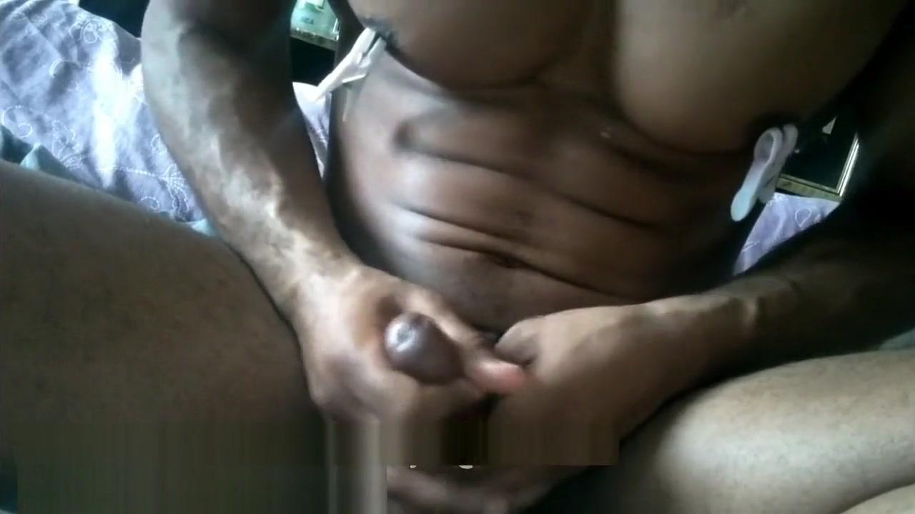 Ebony bodybuilder clothes pegs nipple camping cum big Dick talking dirty Sulawesi tenggara
