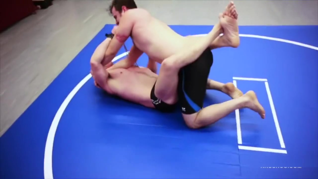 Wrestling Bound Together with Rope girl boxing nude