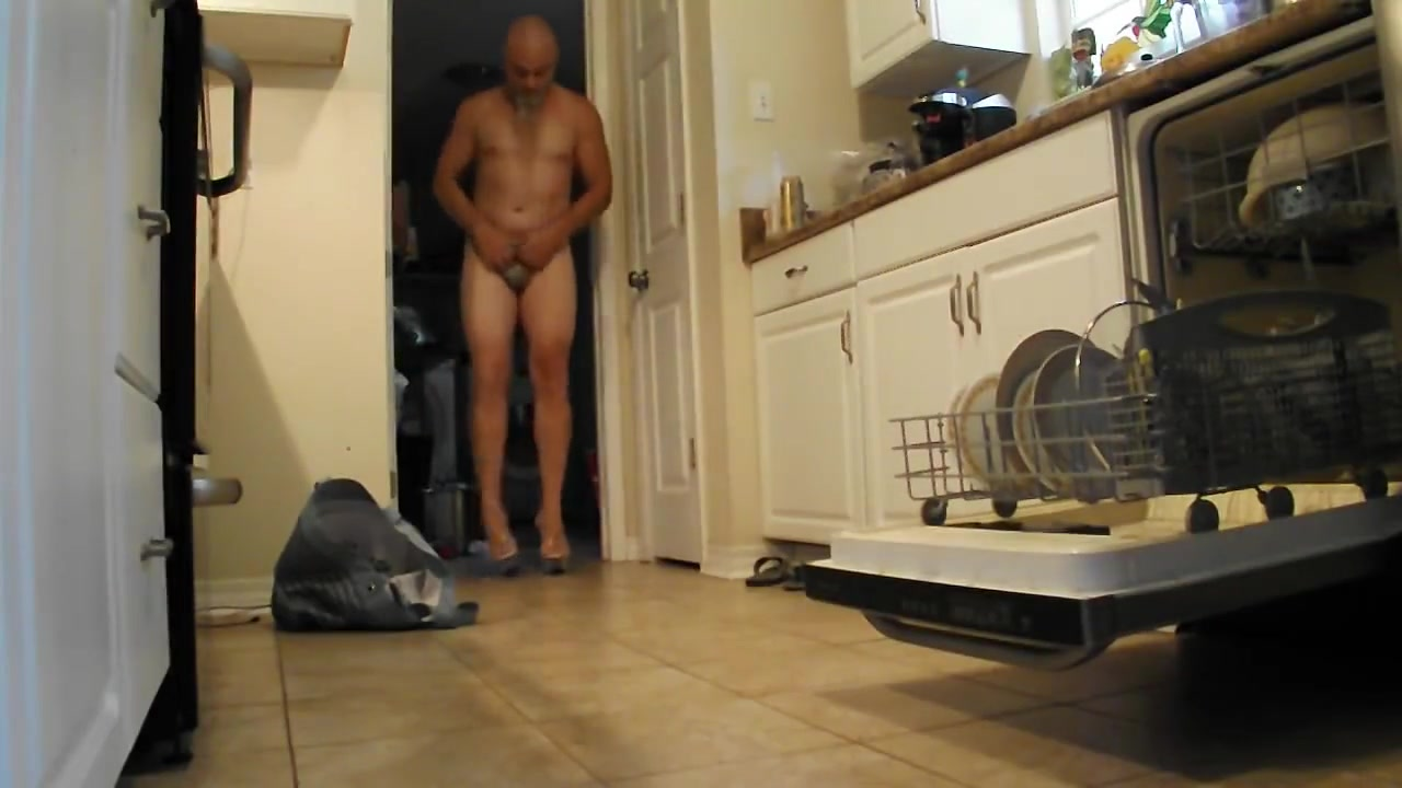 Doing my domestic duties. Interracial kissing and fucking