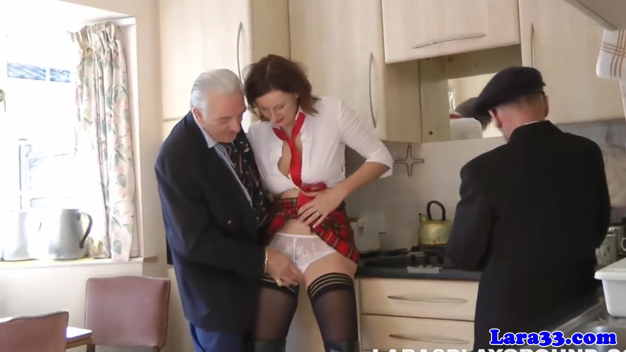 Stockings milf in threeway facialized by old guys Milf porn full videos