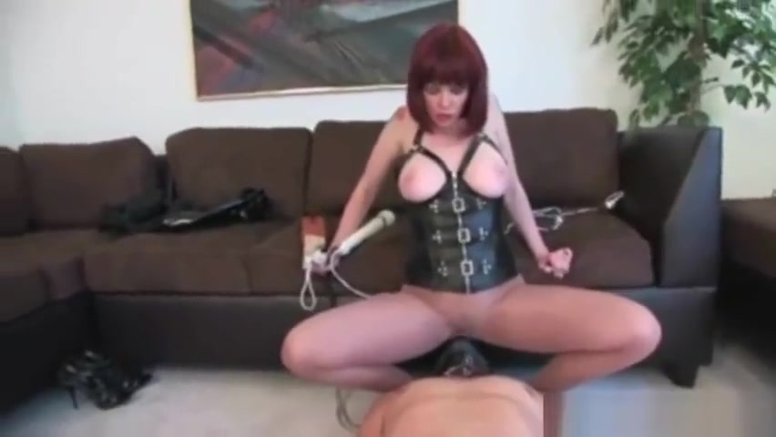 Red head mistress dominates her slave teacher sex student porn