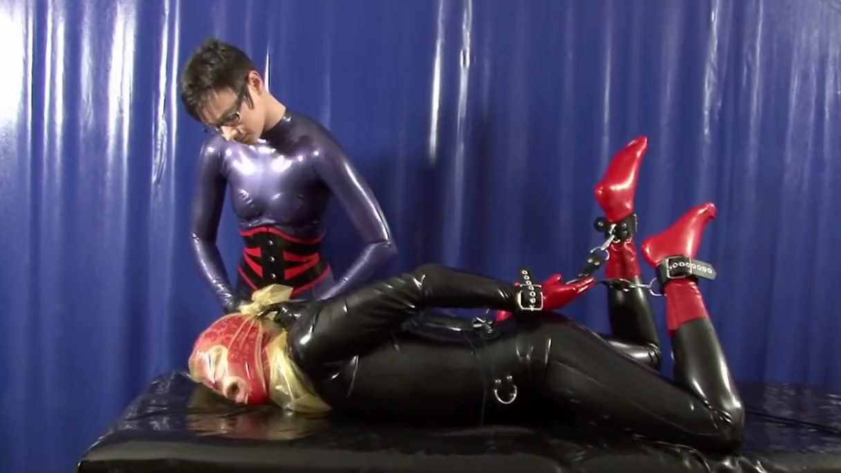 Handcuffed and Rubber Sheet Breathplay Hot redhead milf gets seduced