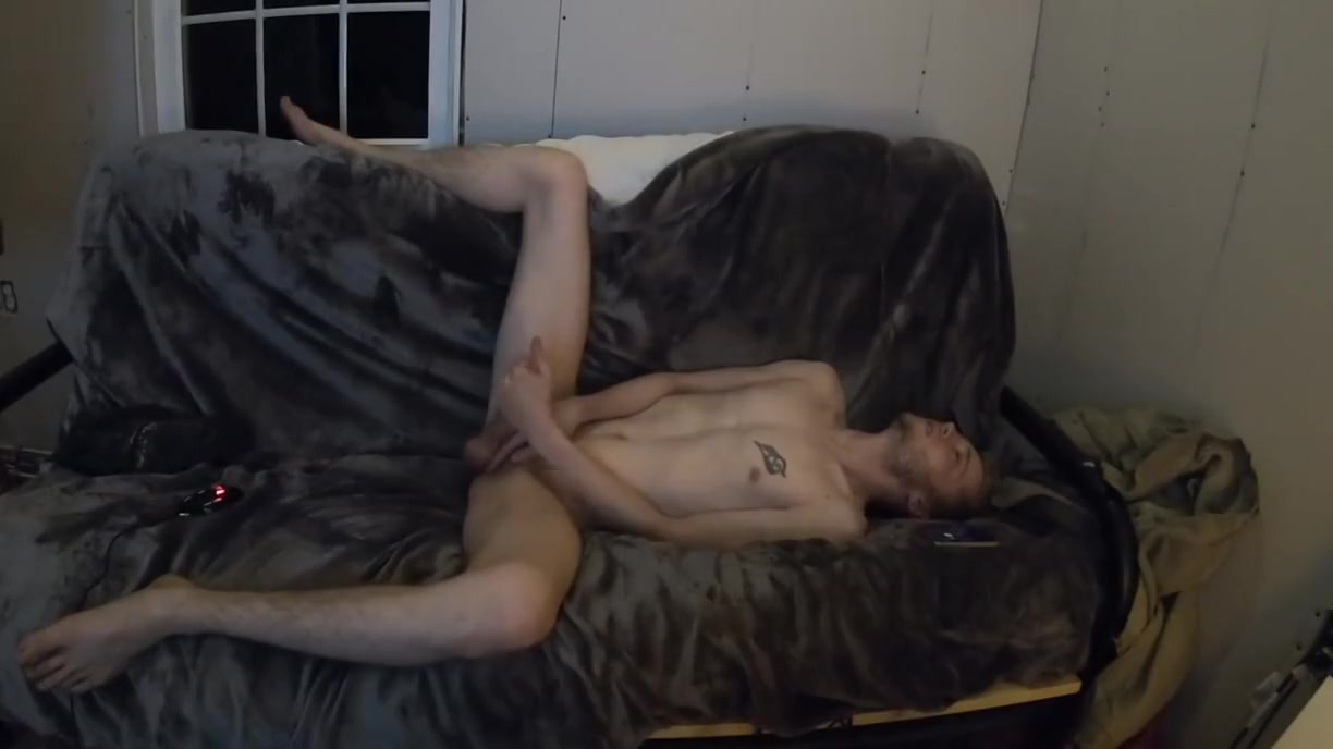 Hot scuffy college guy jacking off nude to radio Gif tits porn