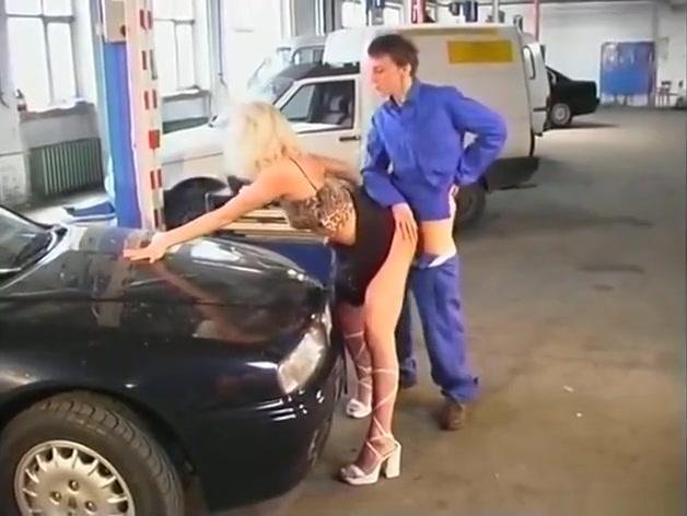 Hot German blonde in parking lot Meet men for free