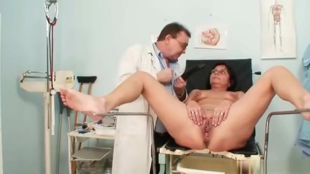 Elder pierced pussy woman bizarre pussy exam Boobs naked tan lines