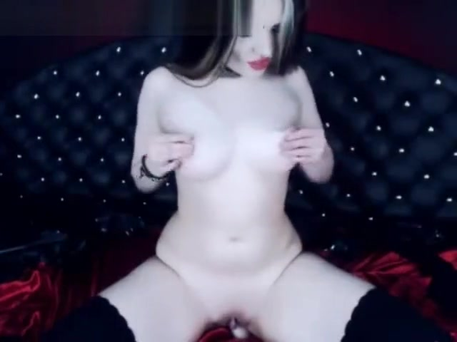Goth Girl Fucks Herself With a Dildo angelina clothed fucking movies