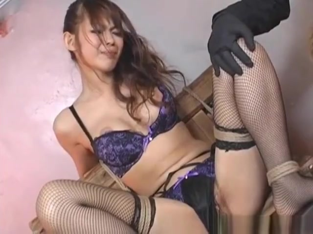 Beautiful Oriental babe in fishnet stockings has pussy filled with glowstic free nuru massage videos