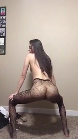 skinny brunette twerking in just her tights pantyhose sexy girls and nacked girls hump fucking hard