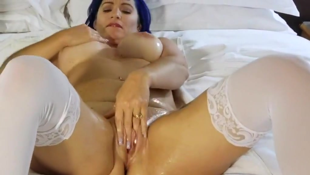 Oiled Tits and Pussy Toy Fucked POV.