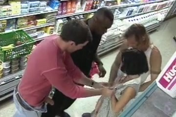 Gangbang at a grocery store Free beautiful pussy sex video