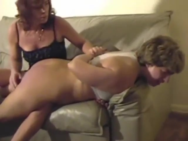 Woman soundly spanked by lady