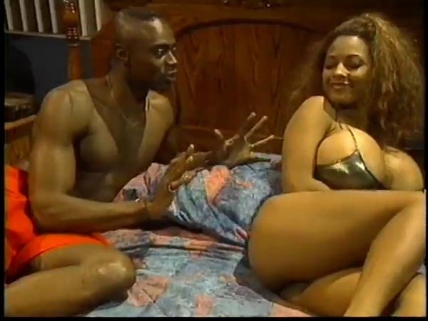 Ebony MILF goddess pounded like a whore on the bed Bikini blonde