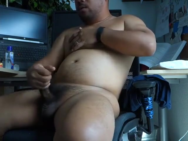 Asian Bear Popper Jerk off Huge cumshot in mouth