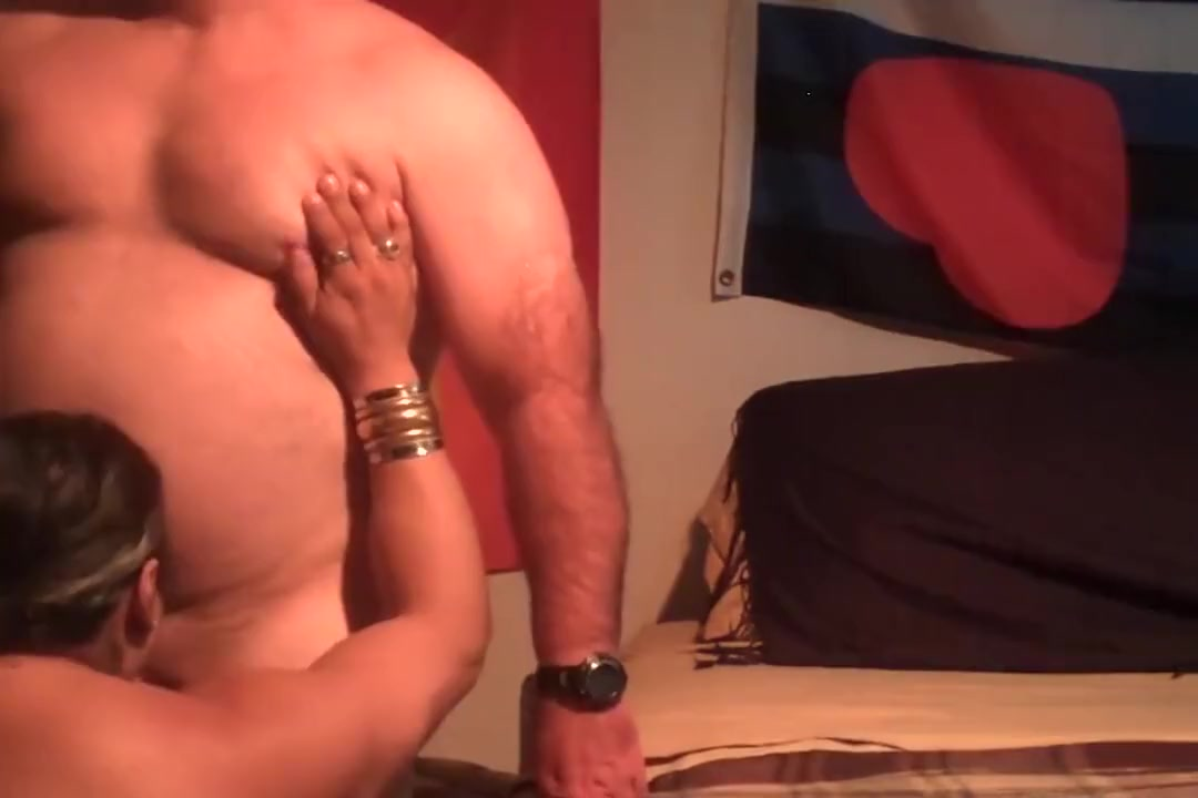 Smooth Stocky Bear Gets Sucked blonde gay big cock