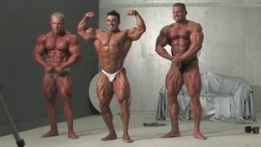 Three Muscle Kings! Eduardo, Con and Evgeny! Wow! Free Porn Big Black Penis