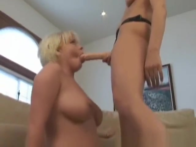 Strap On Lesbian 32 Massive boobs masseuse licked by stunner