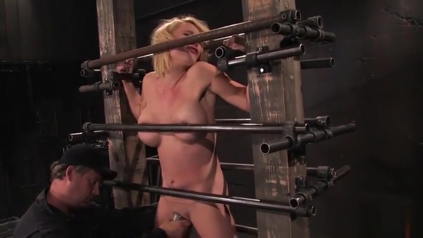 Good-looking Krissy Lynn performing in BDSM action Sexy tits strip wife