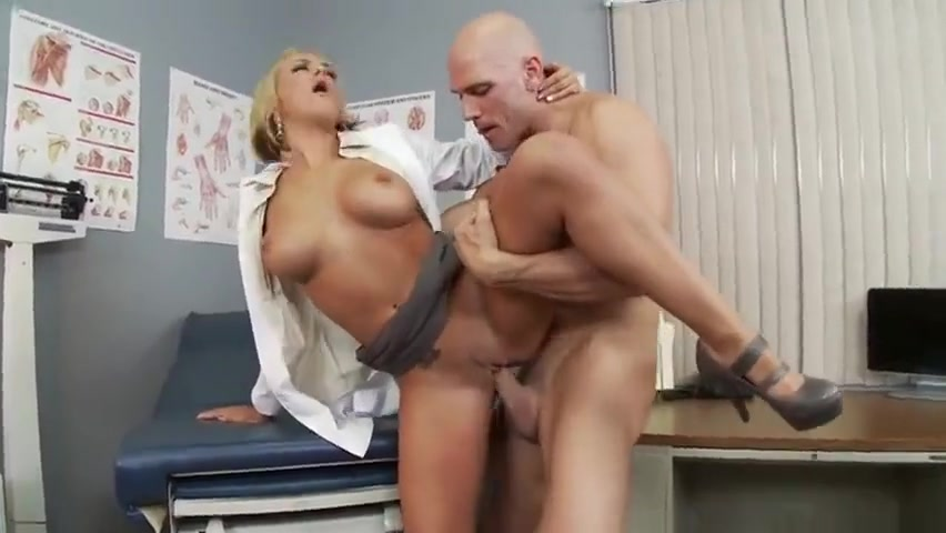 Divine blond Briana Blair performing a medical examination at workplace Sexy pics xx