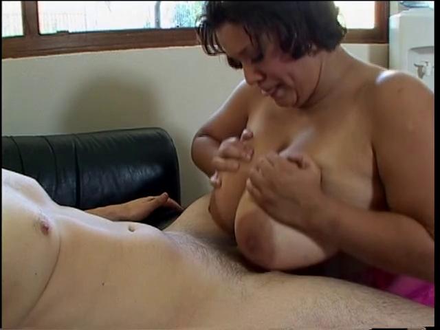 Large boobed gal copulates and sucks