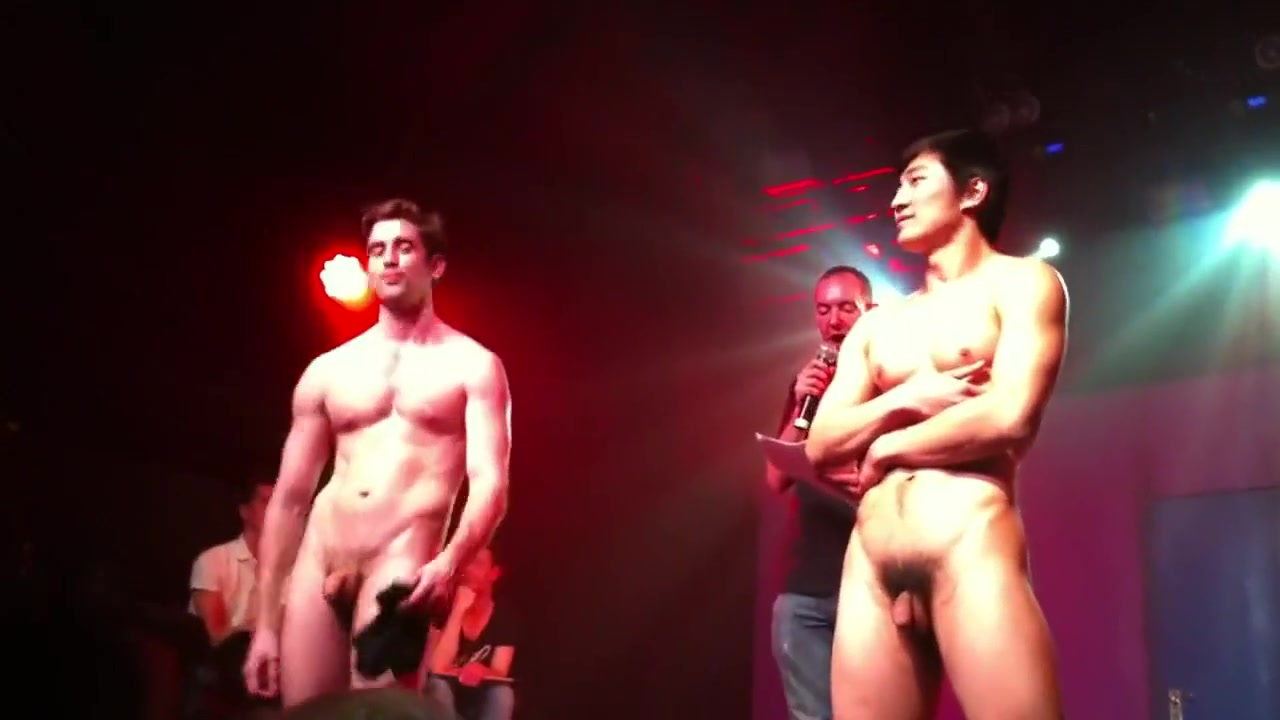 Hot Chinese Guy Strips on Stage Tattoo sex scene