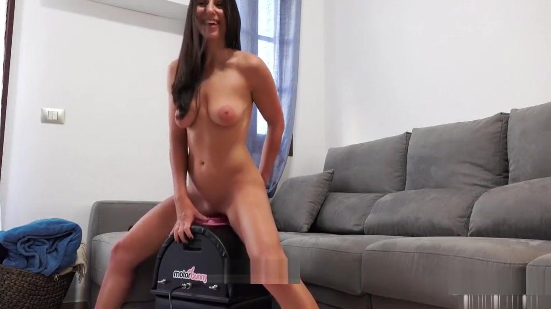 He control my pleasure - crazy orgasms on my motorbunny!