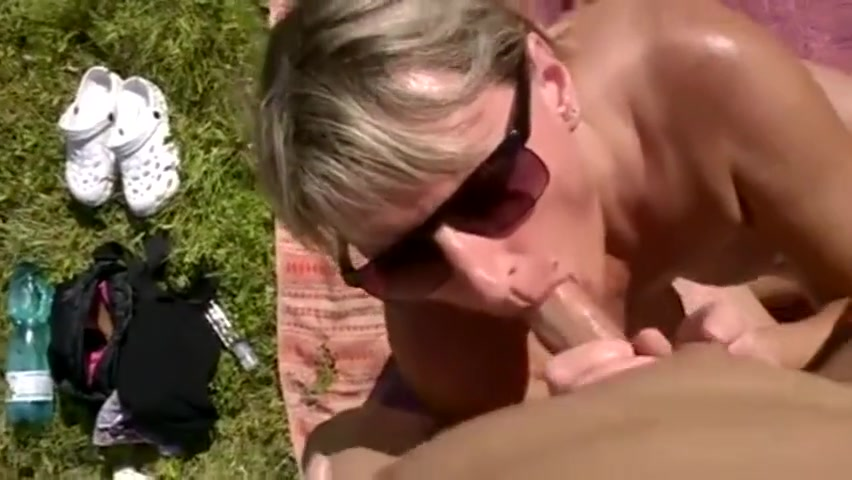 Czech couple on the beach sex oral sex
