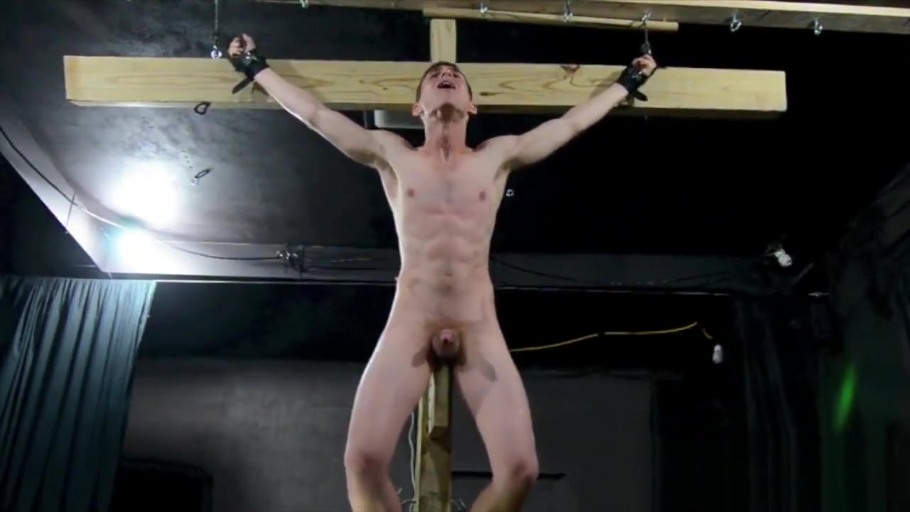 Crucified Twink Fucks Himself With Dildo_BDSM Gay Bondage. Asian lesbian sloppy kissing wombstabber porn tube video