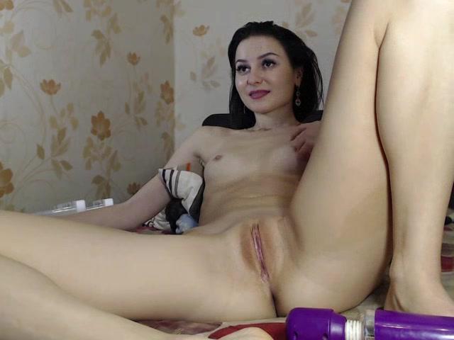 Hot Brunette Amateur Girl Pussy striping show webcam asshole close up princess zage 1