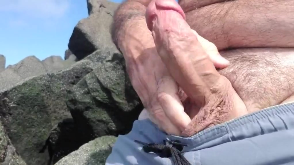Jerking off on public beach-Big Cum Shot-Hairy Bear Lesbo Teenie Giving Cunillingus To Hot Milf