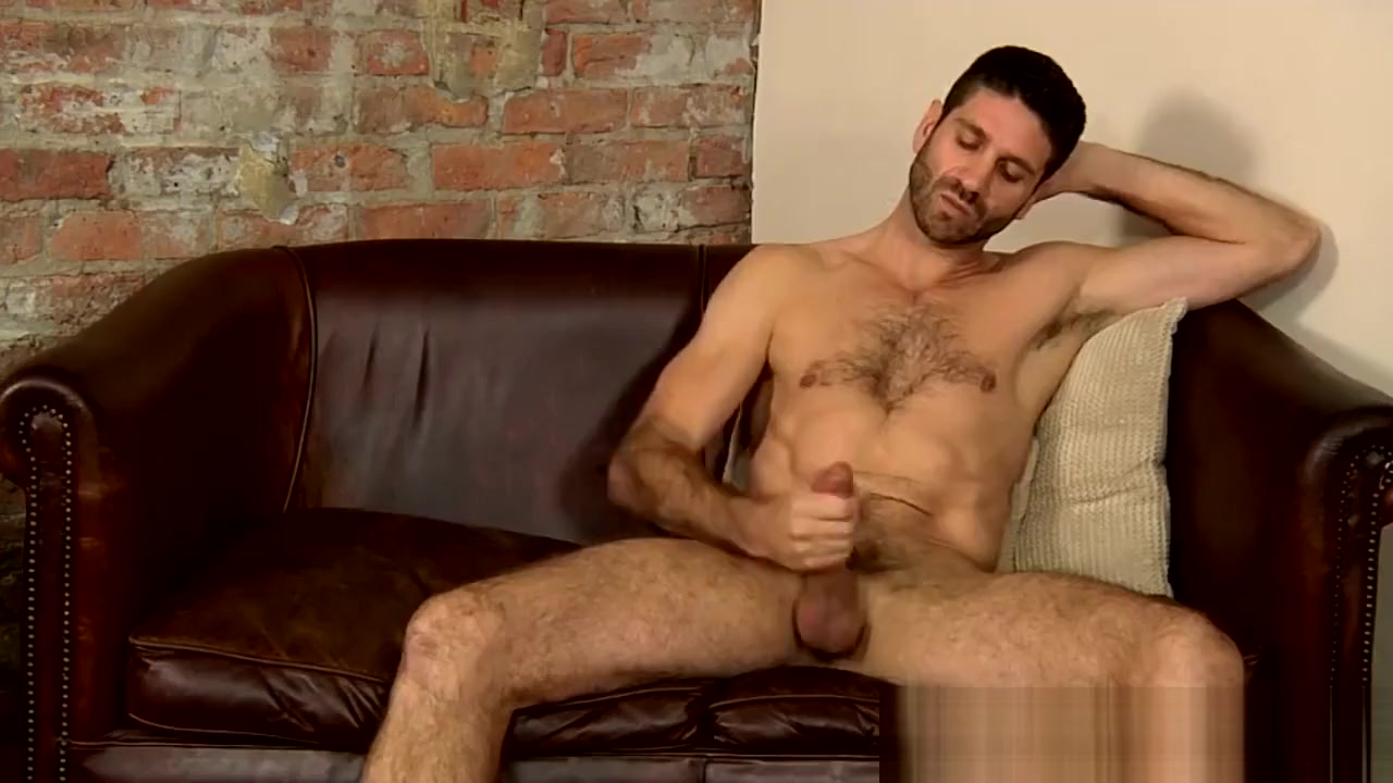 Hairy hunk Craig Daniel stroking his huge uncut cock solo mom and daughter fucking son