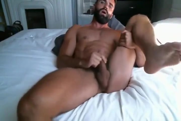 Beautiful man jerks off in bed Naked sexy girls love making scenes