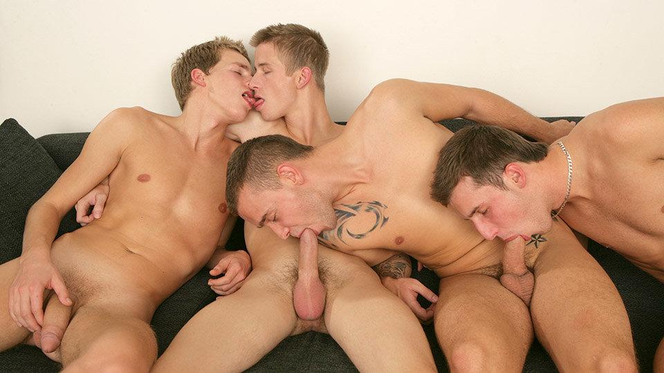 Four Hungry Boys Sucking Cock! - David Gold, Chester Pool, Patrik Jensen & Thomas Fiaty - HomoEmo Shemale bareback tgp
