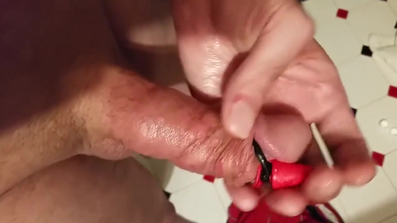 Playing With my Demon Cock CBT Dick Self Bondage Kink Abigail slips her hand between Cadence legs